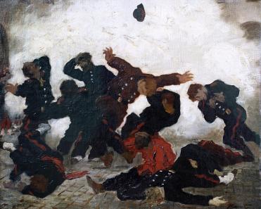 Paris. L'Explosion. 1871. Folkwangmuseum Essen