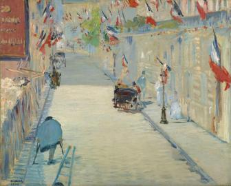 Édouard Manet La rue Mosnier aux drapeaux