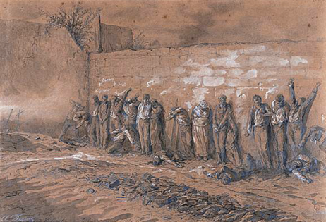 Darjou, le Mur des fédérés le 28 mai 1871