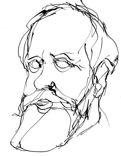 Eugène Pottier, dessin d'Éloi Valat