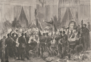 31 octobre 1870. La salle des séances du gouvernement de la défense nationale envahie par les partisans de la Commune