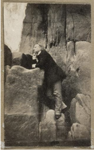 Victor Hugo, Rocher des proscrits, Jersey, 1853