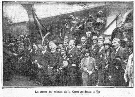Les vétérans de la Commune, dans L'Humanité du 31 mai 1926