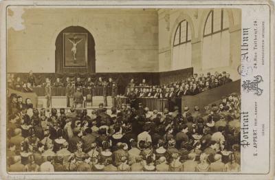 Procès des membres de la Commune, photomontage d'Eugène Appert