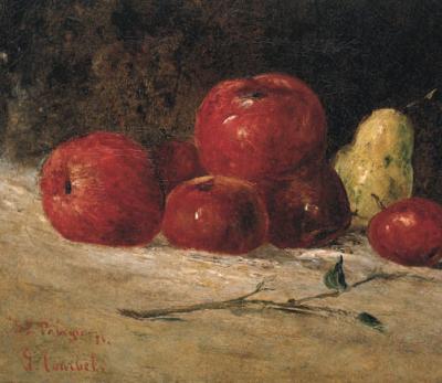 Courbet, Nature morte, Sainte-Pélagie, 1871