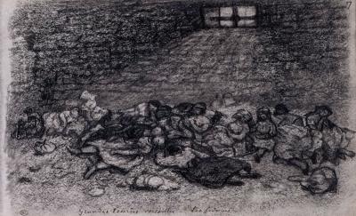 Gustave Courbet, les Fédérées aux Grandes Écuries de Versailles, 1871