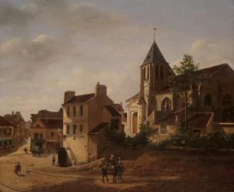 Charonne vers 1830 par Étienne Bouhot