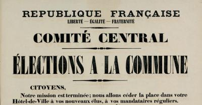 L'affiche du Comité central pour les élections du 26 mars