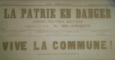 La Patrie en danger, numéro daté du 2 novembre 1870